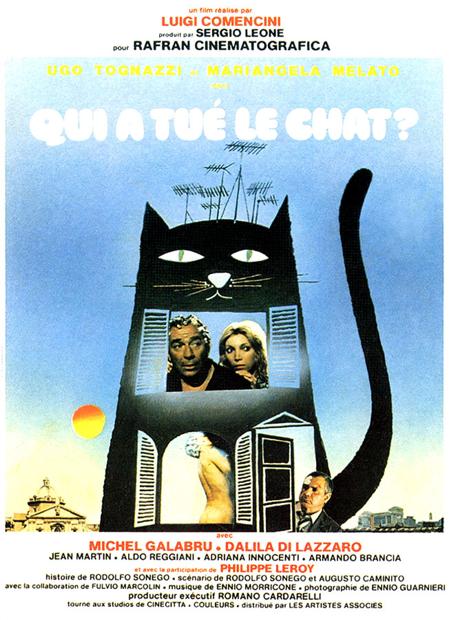 Qui a tué le chat ? (Il gatto) de Luigi Comencini (1977) - affiche française