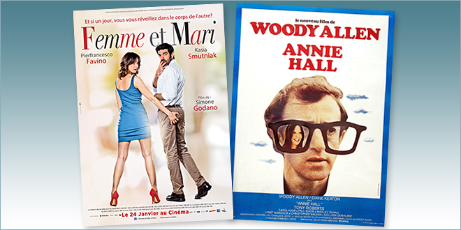 Sorties Comédie du 24 janvier 2018 : Femme et mari (Moglie e Marito), Annie Hall (reprise 1977)