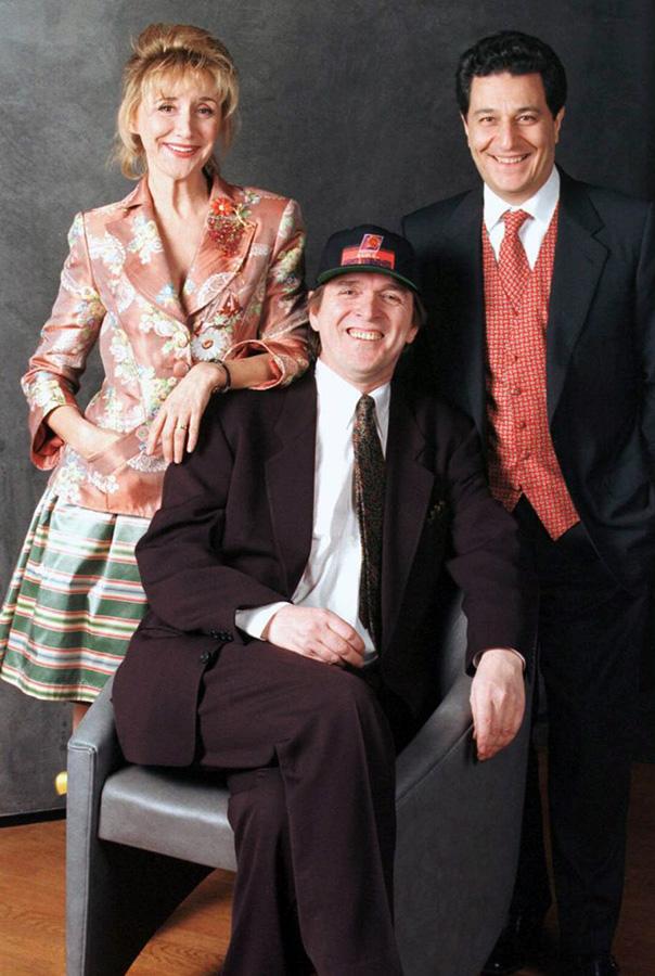 Marie-Anne Chazel, Jean-Marie Poiré et Christian Clavier durant la promotion des Visiteurs