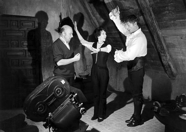Gérard Oury et Yves Montand sur le tournage de La Folie des grandeurs