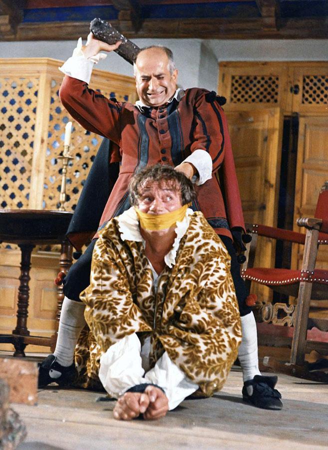 Yves Montand et Louis de Funès dans La Folie des grandeurs (Gérard Oury, 1971)