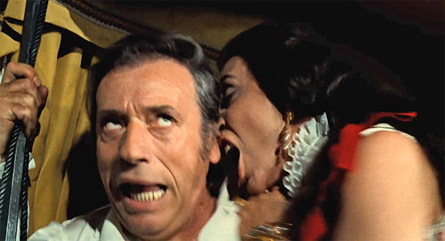 Yves Montand et Alice Sapritch dans La Folie des grandeurs (Gérard Oury, 1971)