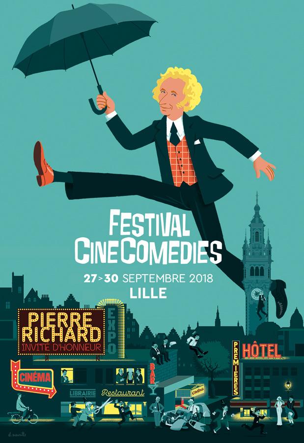 Affiche du Festival CineComedies du 27 au 30 septembre 2018 à Lille
