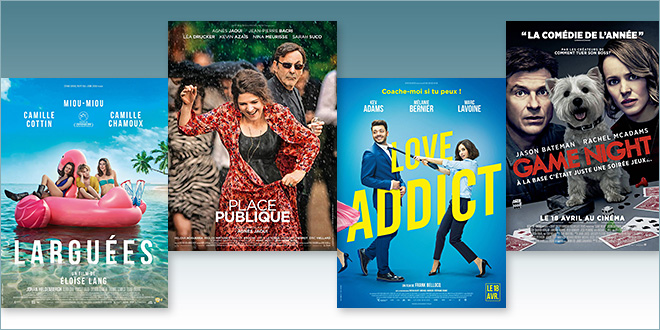 sorties Comédie du 18 avril 2018 : Place publique, Larguées, Love addict, Game Night