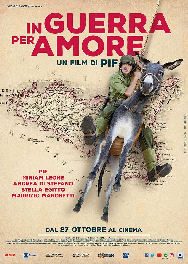 Affiche italienne de Bienvenue en Sicile (In guerra per amore) de Pif (2018)
