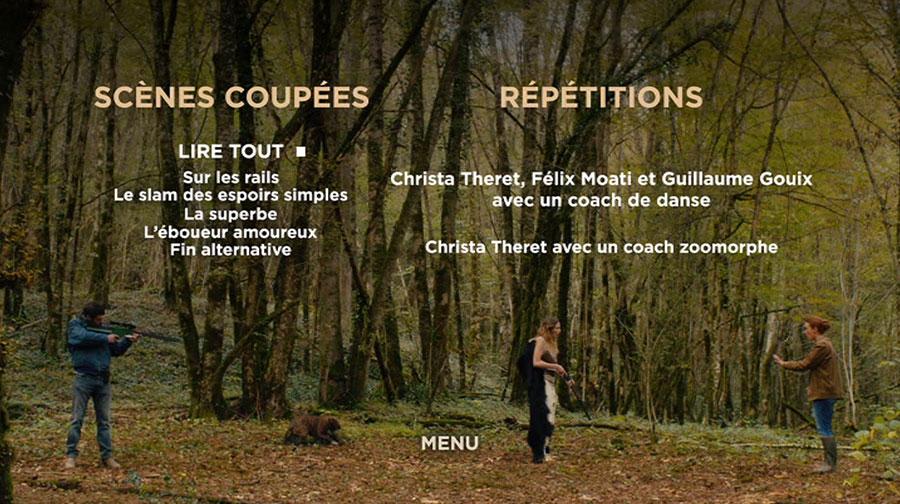 DVD Gaspard va au mariage - menu bonus