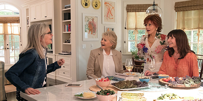 Box-office français du 6 au 12 juin 2018 - Diane Keaton, Candice Bergen, Jane Fonda et Mary Steenburgen dans Le Book Club (Bill Holderman, 2018)