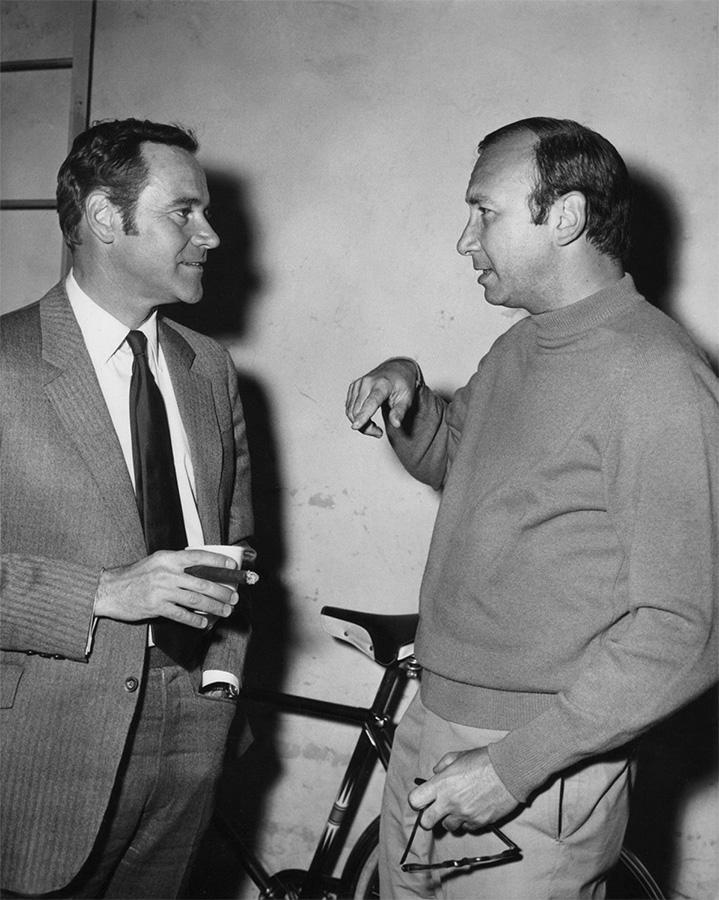 Jack Lemmon et Neil Simon sur le tournage de Escapade à New York (Arthur Hiller, 1970) - © Paramount Pictures