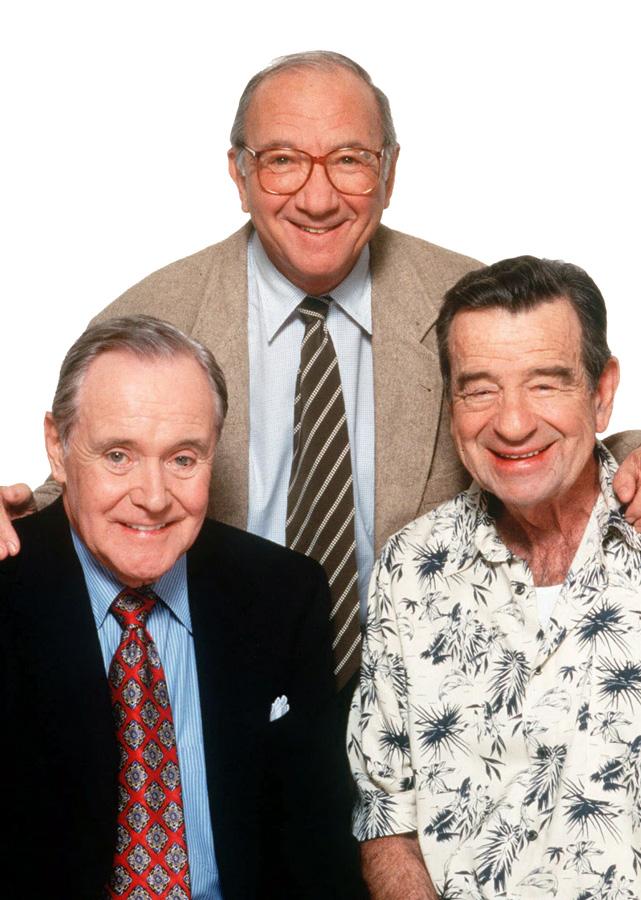 Jack Lemmon, Neil Simon et Walter Matthau en 1998
