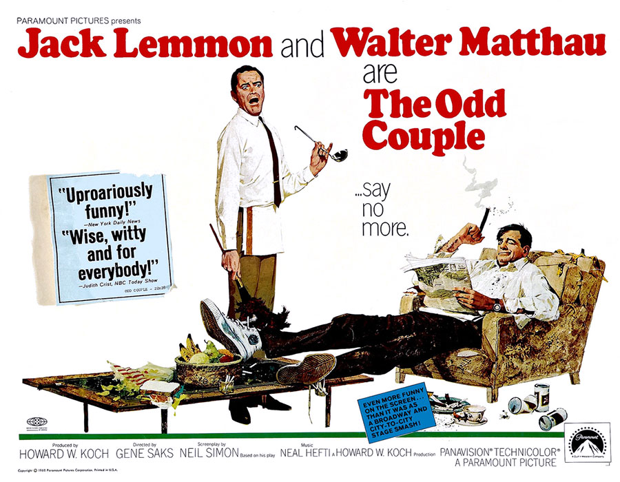 The Odd Couple (Un drôle de couple) de Gene Saks (1968)