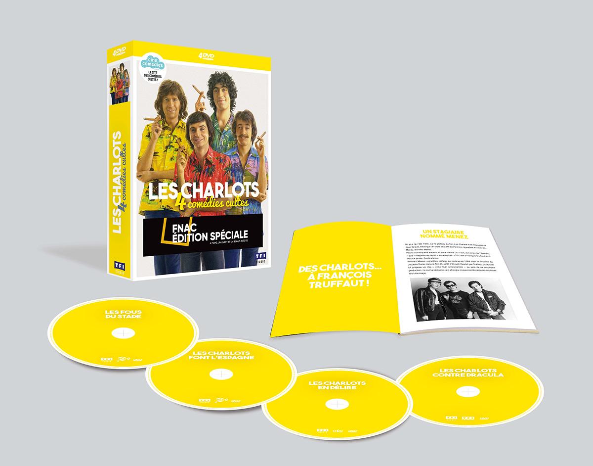 Les Charlots : 4 comédies cultes en coffret DVD (TF1 Studio)