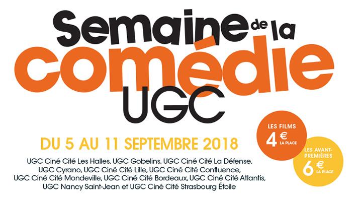 Semaine de la Comédie UGC 2018