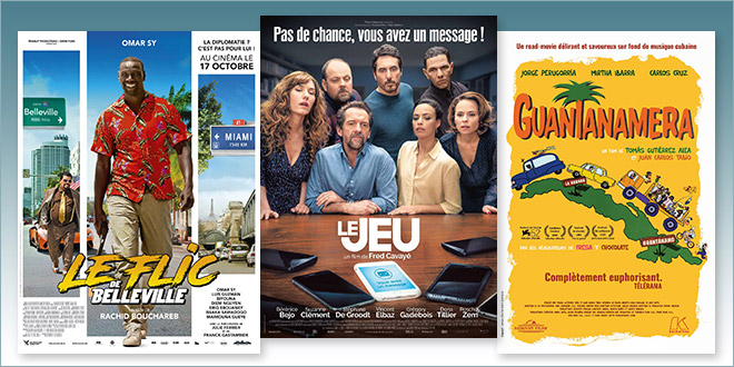 Sorties Comédie du 17 octobre 2018 : Le Flic de Belleville, Le Jeu, Guantanamera (rep.1996)