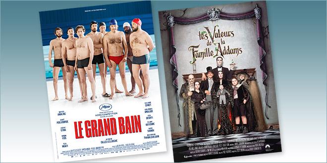 Sorties Comédie du 24 octobre 2018 : Le Grand bain, Les Valeurs de la famille Addams (rep.1993)