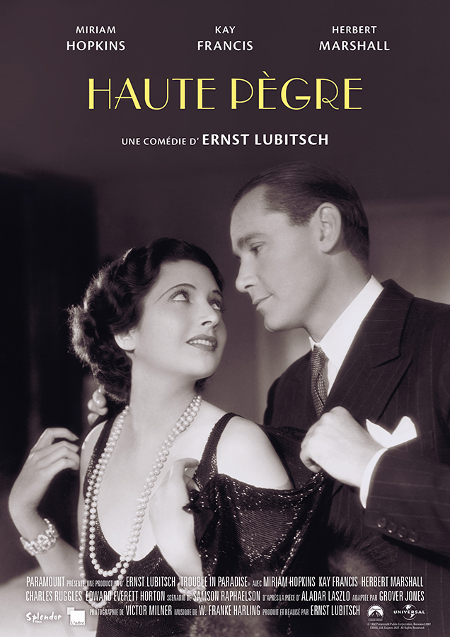 Haute pègre (Trouble in Paradise) de Ernst Lubitsch (1932)