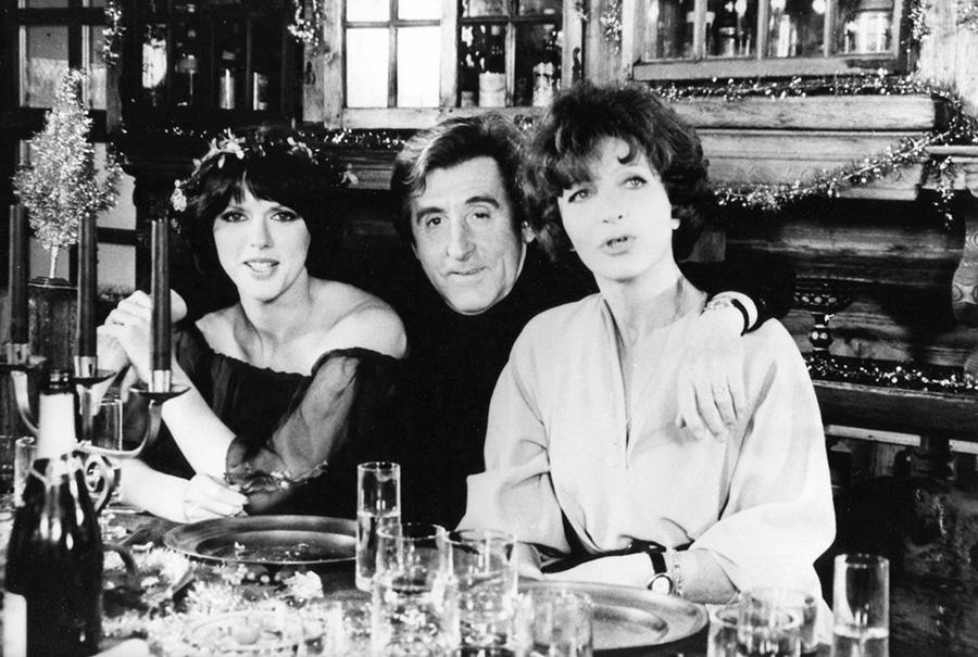 Anny Duperey, Jean Lefebvre et Maria Pacôme sur le tournage de Pas de problème ! (Georges Lautner, 1975)