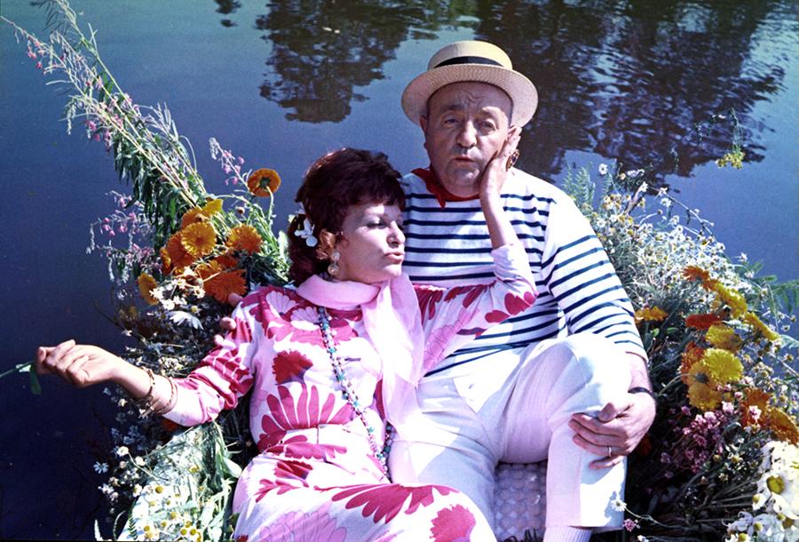 Maria Pacôme et Bernard Blier dans Le Distrait (Pierre Richard, 1970)