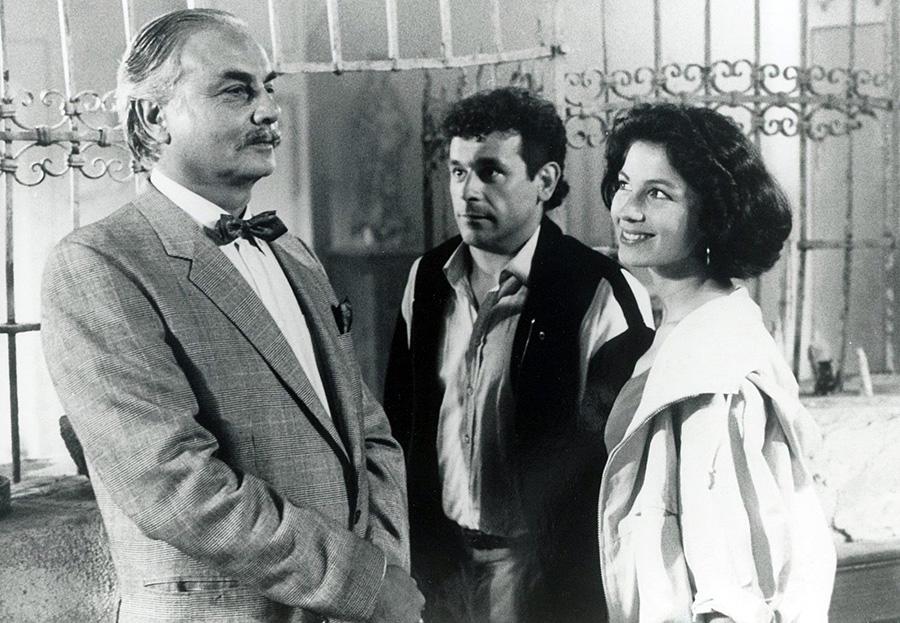 François Perrot, Francis Perrin et Véronique Genest dans Ça n'arrive qu'à moi (Francis Perrin, 1985)