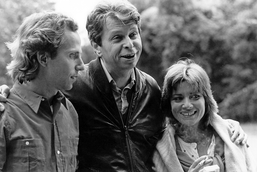Fabrice Luchini, Michel Gérard et Nicole Calfan sur le tournage de T'es folle ou quoi - © Collection personnelle de Michel Gérard