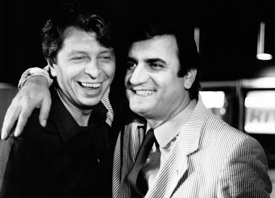 Michel Gérard et Aldo Maccione - © Collection personnelle de Michel Gérard