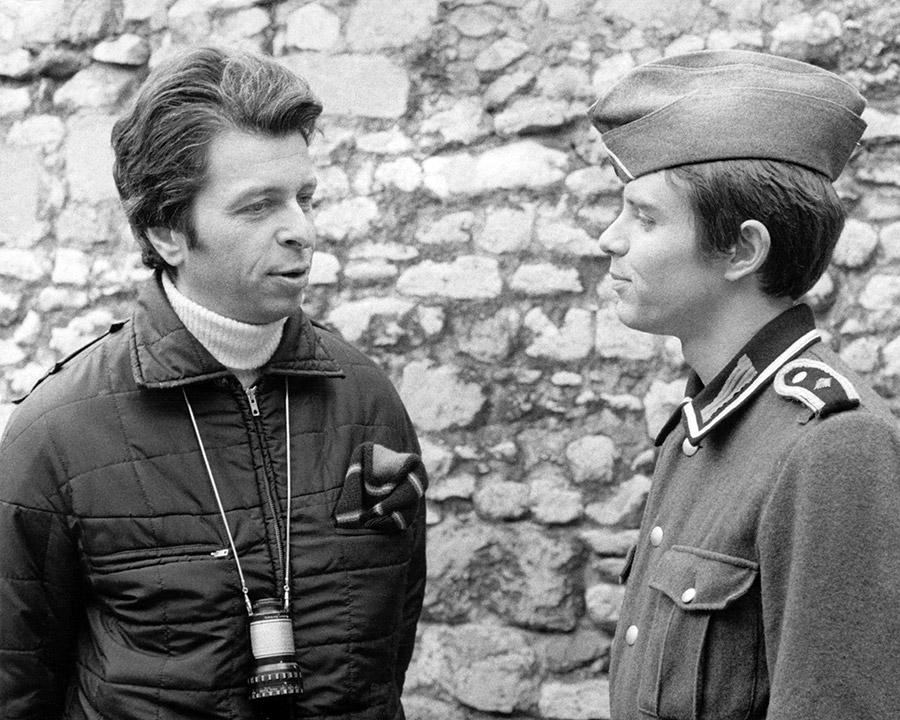 Michel Gérard et Régis Porte sur le tournage de Soldat Duroc - © Collection personnelle de Michel Gérard