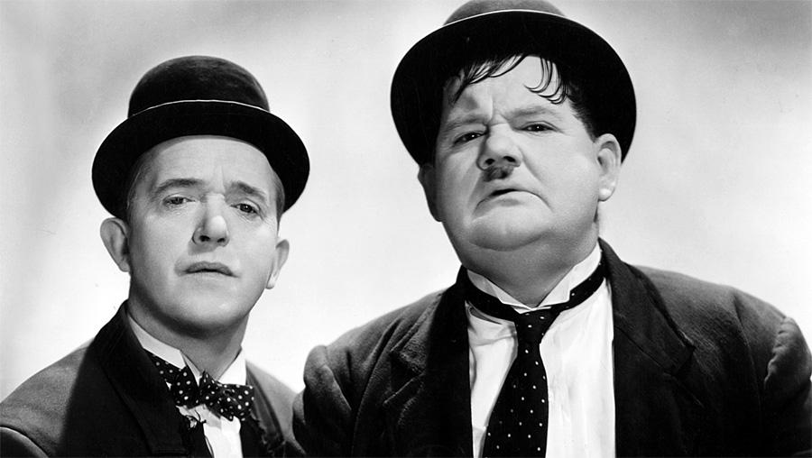 Stan Laurel et Oliver Hardy dans les années 1930