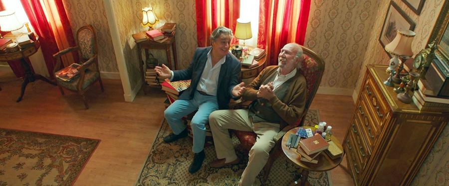 Christian Clavier et Jean-Pierre Marielle dans Une heure de tranquillite (Patrice Leconte, 2014) - © Wild Bunch