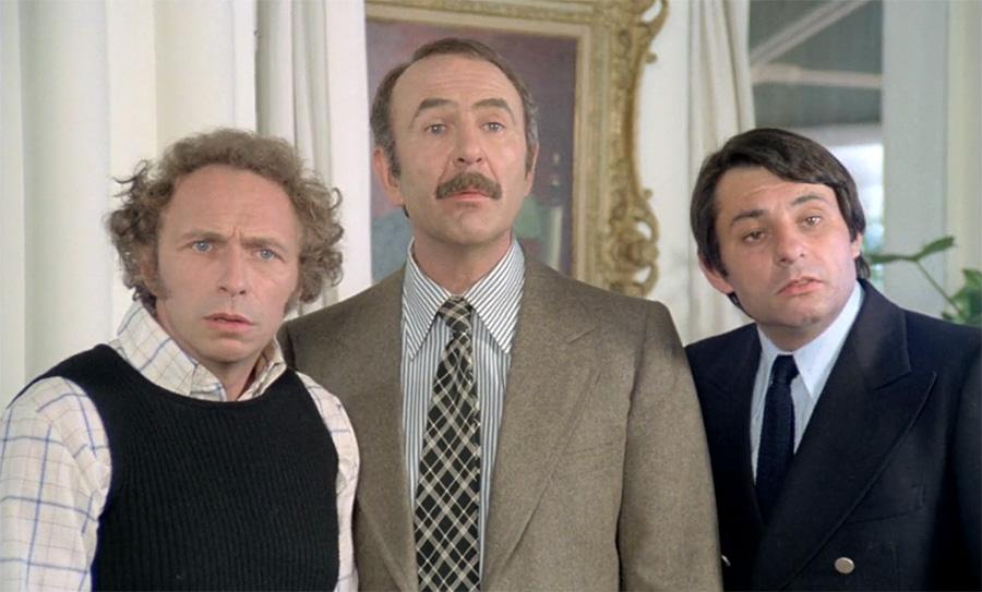 Pierre Richard, Jean-Pierre Marielle et Henri Guybet dans On aura tout vu (Georges Lautner, 1976) - © Gaumont