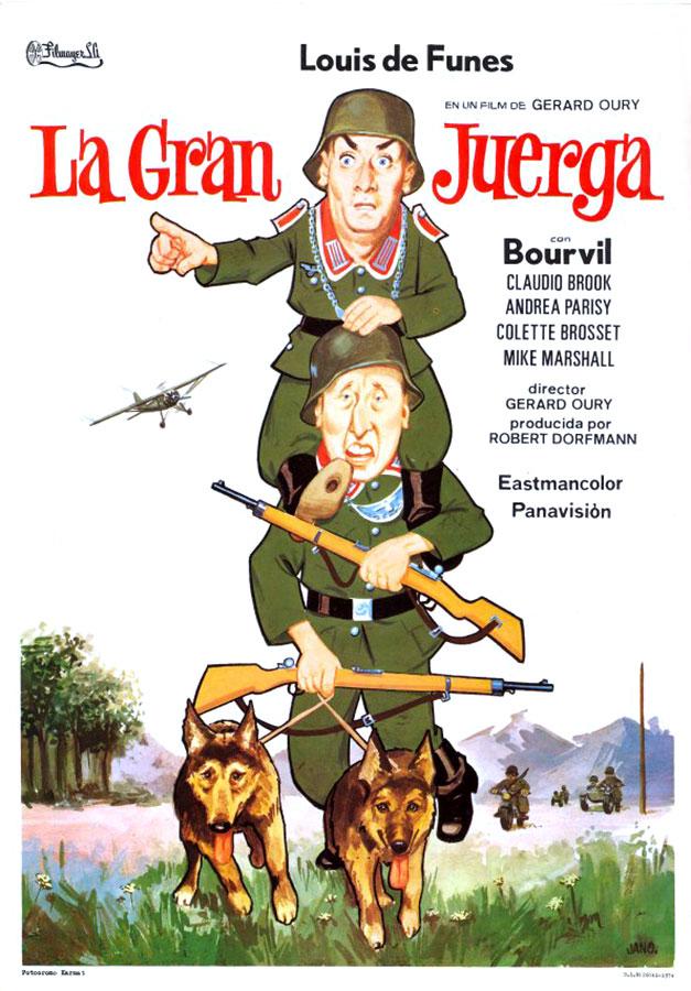 La Grande Vadrouille - affiche espagnole