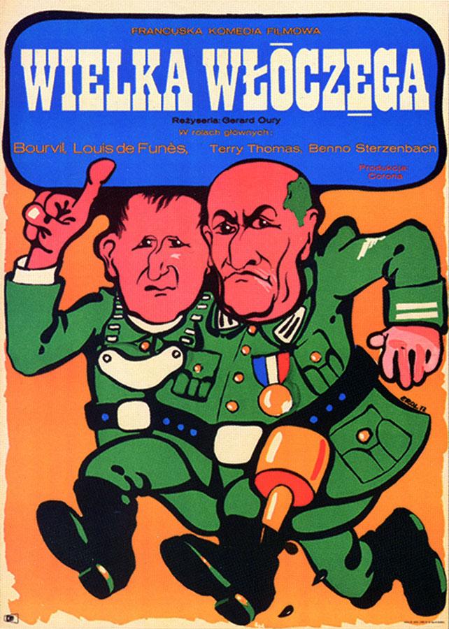 La Grande Vadrouille - affiche polonaise