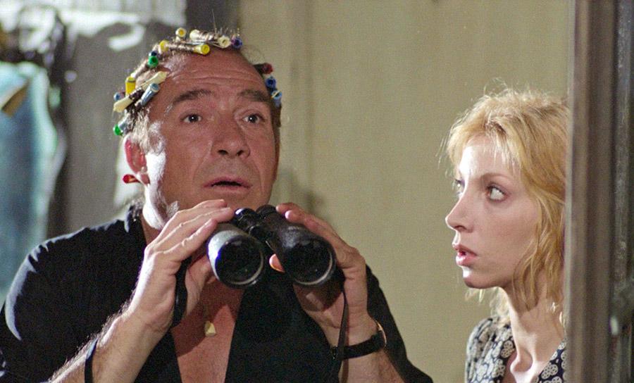 Ugo Tognazzi et Mariangela Melato dans Qui a tué le chat ? (Il gatto) de Luigi Comencini (1977)