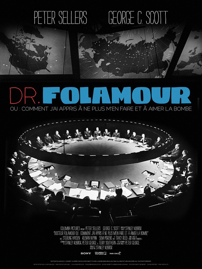 Docteur Folamour (Dr. Strangelove or: How I Learned to Stop Worrying and Love the Bomb) de Stanley Kubrick (1964)
