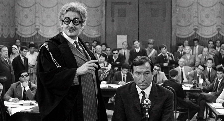 Vittorio Gassman et Ugo Tognazzi dans Le Témoin volontaire (Les Monstres de Dino Risi) - © Splendor Films