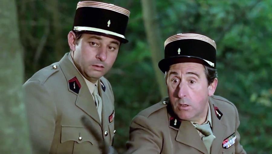 Henri Guybet et Jean Lefebvre dans On a retrouvé la 7ème compagnie (Robert Lamoureux, 1975)