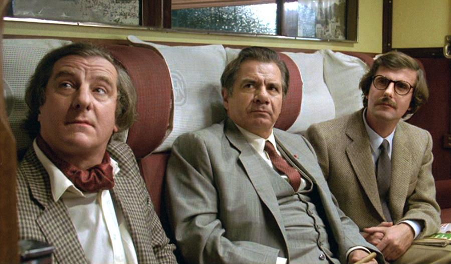 Michel Aumont, Michel Galabru et Bernard Menez dans Celles qu'on n'a pas eues (Pascal Thomas, 1981) © StudioCanal - France 2 Cinéma - Téléma