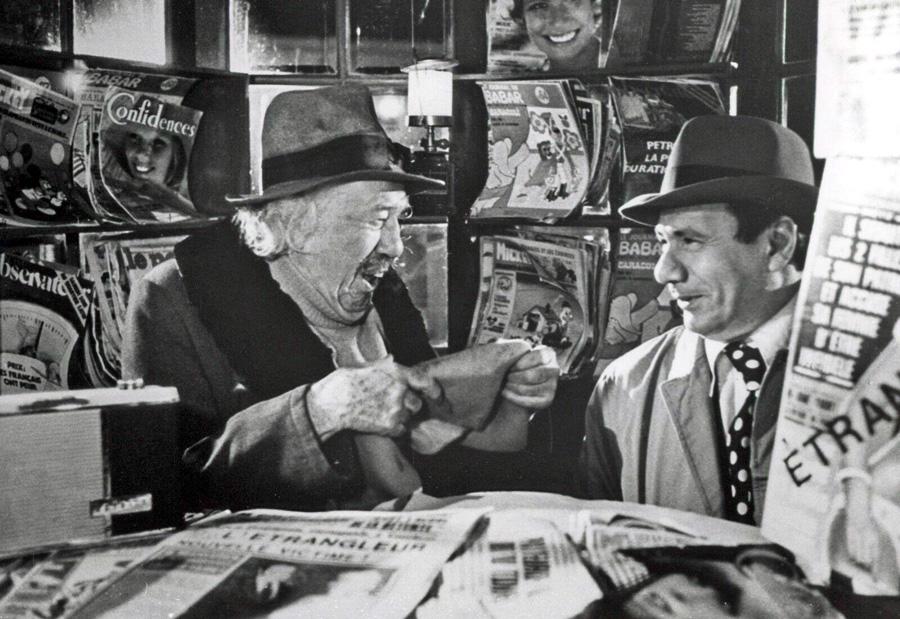 Michel Simon et Michel Galabru dans L'Ibis rouge (Jean-Pierre Mocky, 1975)