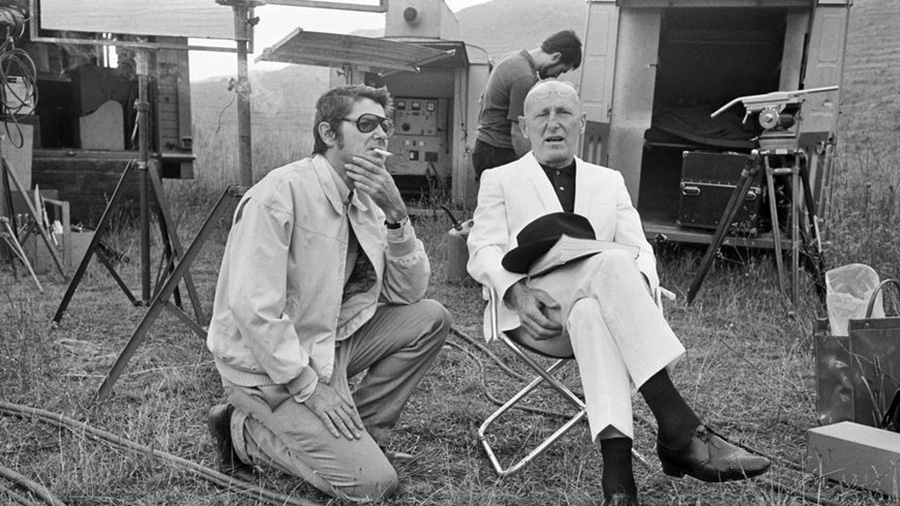Jean-Pierre Mocky et Bourvil durant le tournage de L'Étalon © Getty / James Andanson