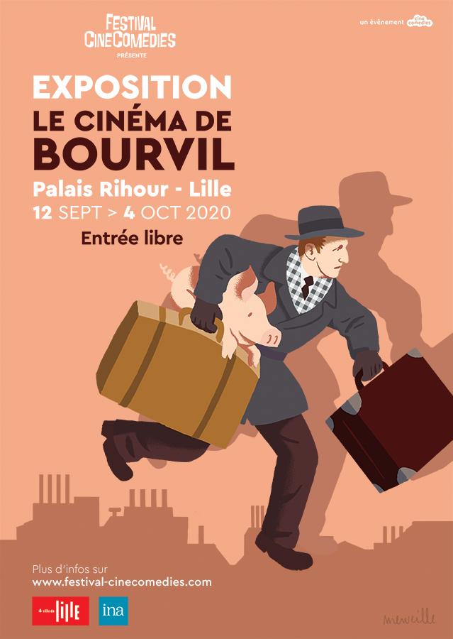 Exposition - Le Cinéma de Bourvil - Palais Rihour (Lille) du 12 septembre au 4 octobre 2020