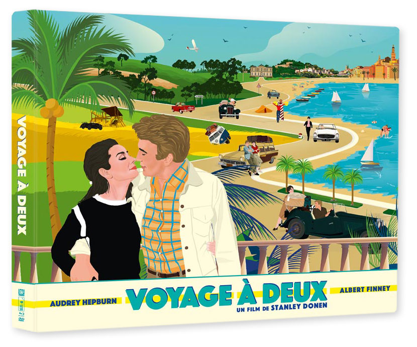 Voyage à deux (Two for the road) de Stanley Donen (Wild Side) - coffret DVD/Blu-ray/livre
