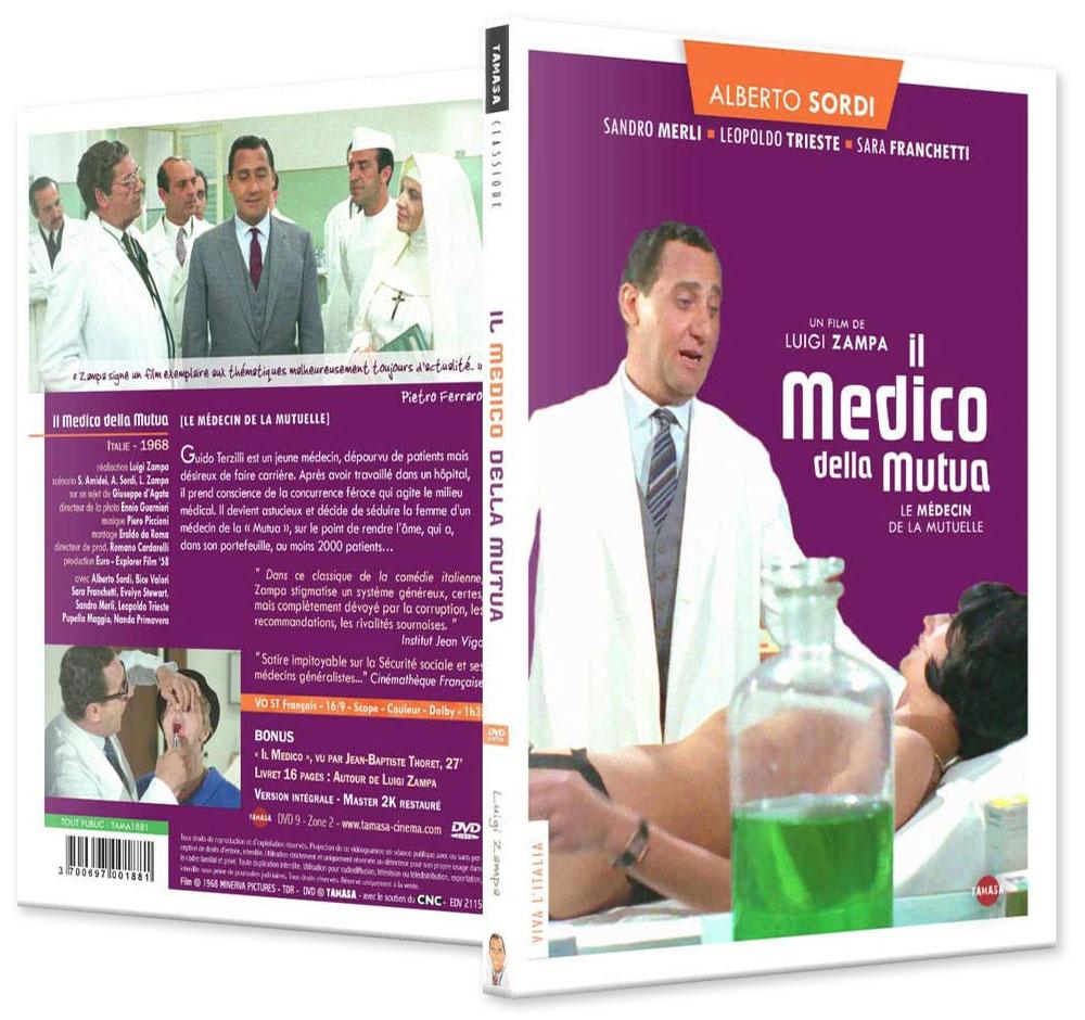 Il Medico Della mutua (Le Médecin de la Mutuelle, 1968) de Luigi Zampa (Tamasa) - DVD