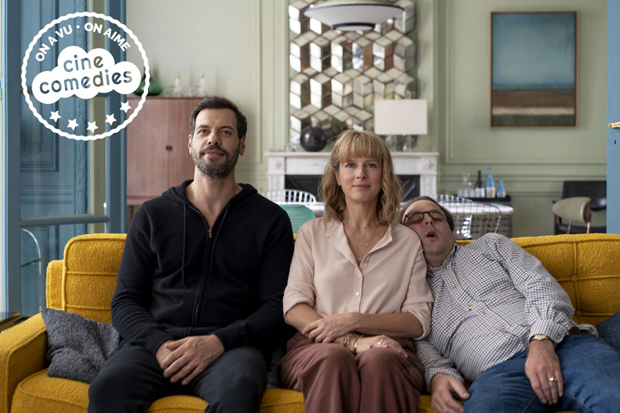 Laurent Laffite, Karin Viard et Vincent Macaigne dans L'Origine du monde (Laurent Laffite, 2020) - © Laurent Champoussin