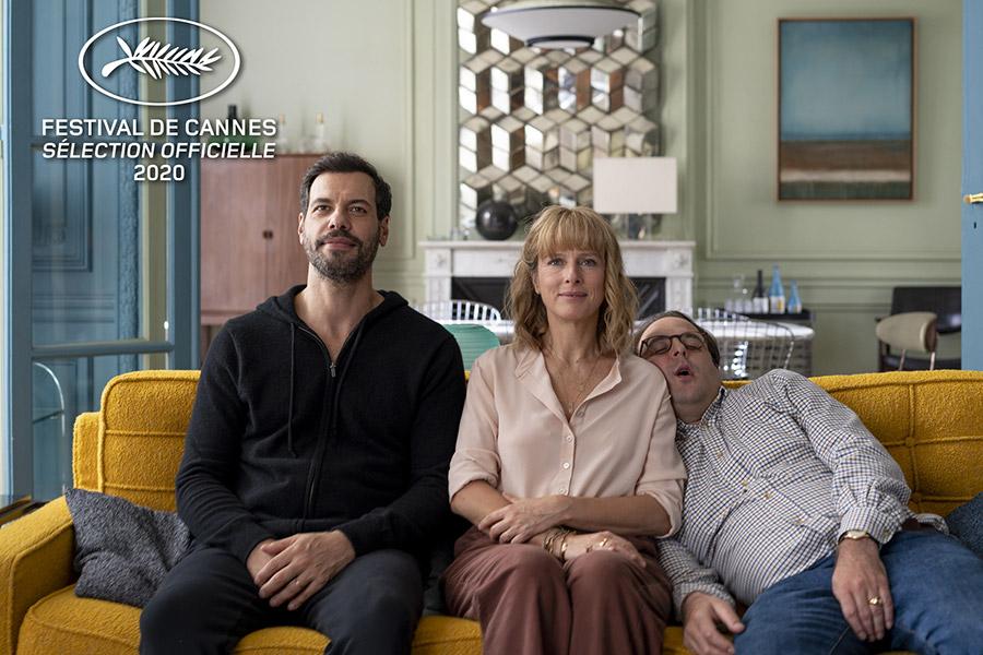 Laurent Laffite, Karin Viard et Vincent Macaigne dans L'Origine du monde (Laurent Laffite, 2020) - © StudioCanal