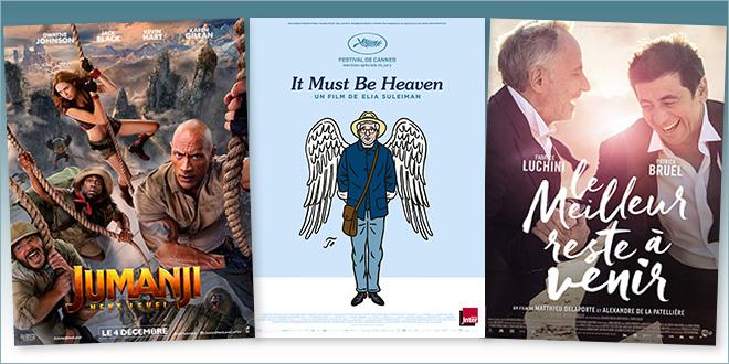 sorties Comédie du 4 décembre 2019 : Jumanji : Next Level, It must be Heaven, Le Meilleur reste à venir