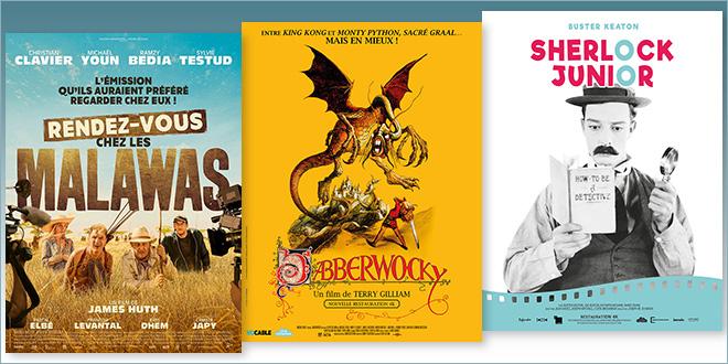 sorties Comédie du 25 décembre 2019 : Rendez-vous Chez Les Malawas, Jabberwocky (1977, 4K), Sherlock Junior (1924, 4K)