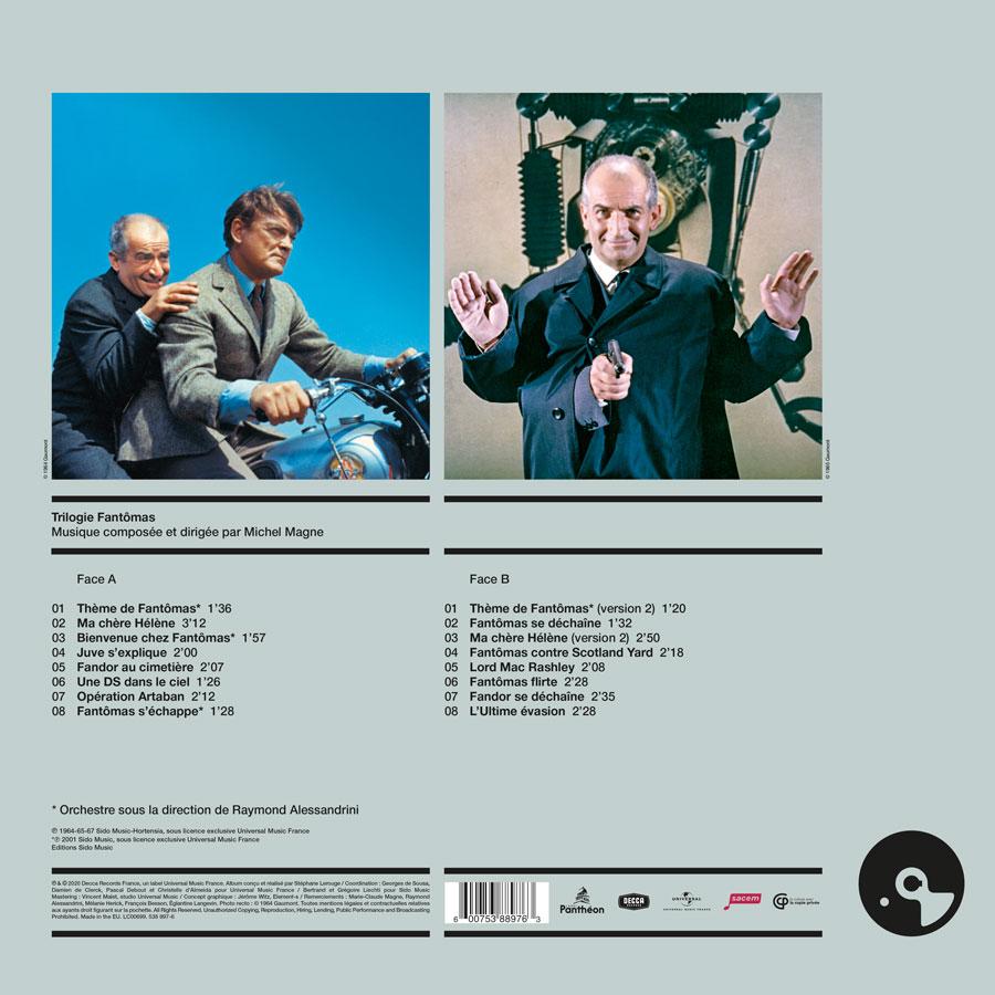 Fantômas / Michel Magne (Écoutez le cinéma !) - verso 33 tours