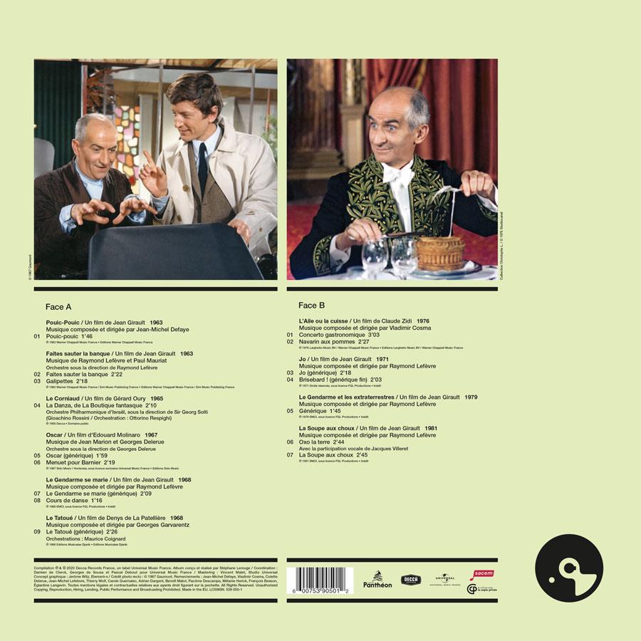 Louis de Funès vol. II, Musiques de films 1963-1981 (Écoutez le cinéma !) - verso 33 tours