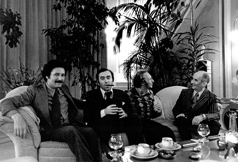 Claude Zidi, Christian Fechner, Pierre Richard et Louis de Funès - © Collection personnelle Claude Zidi