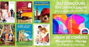 Jeu-concours Un air de comédies du 28 février au 1 mars 2020 au Majestic Passy