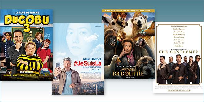 sorties Comédie du 5 février 2020 : ducobu 3, #JesuisLà, Le Voyage du Dr Dolittle, The Gentlemen