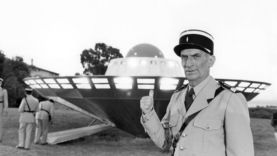 Louis de Funès sur le tournage du film Le Gendarme et les extra-terrestres (Jean Girault, 1978) - © Patrice Picot